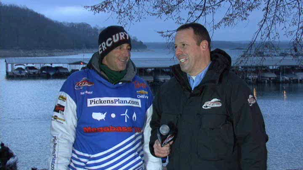 FLW Major 1 Beaver Lake Take-Off Interview Randy Blaukat