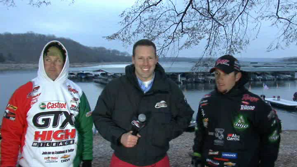 FLW Major 1 Beaver Lake Take-Off Interview Stetson Blaylock and David Dudley