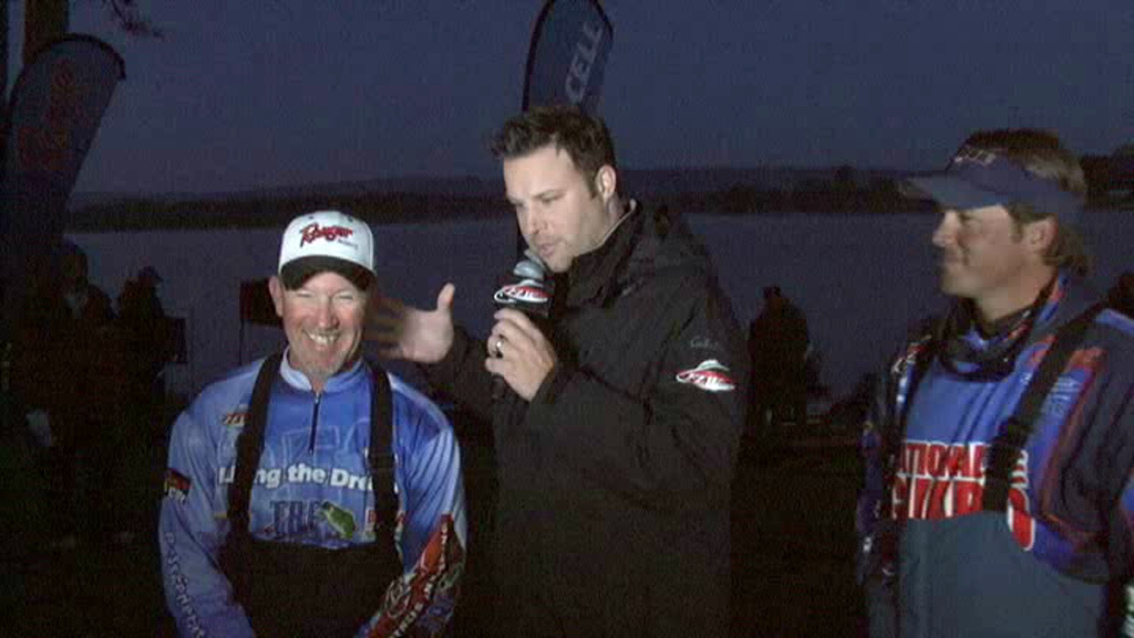 2011 FLW Tour Major  3 Lake Chickamauga Final Day Take-Off Interview Jay Keith and Scott Martin