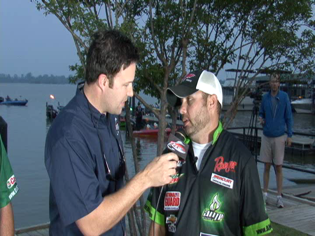 2011 FLW Tour Major on the Red River - Final Day Take-Off Interview Robertson and Romans