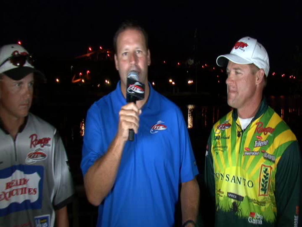 2011 FLW Tour Major on Pickwick Lake Final Day Take-Off Interview Dodson and Schenck