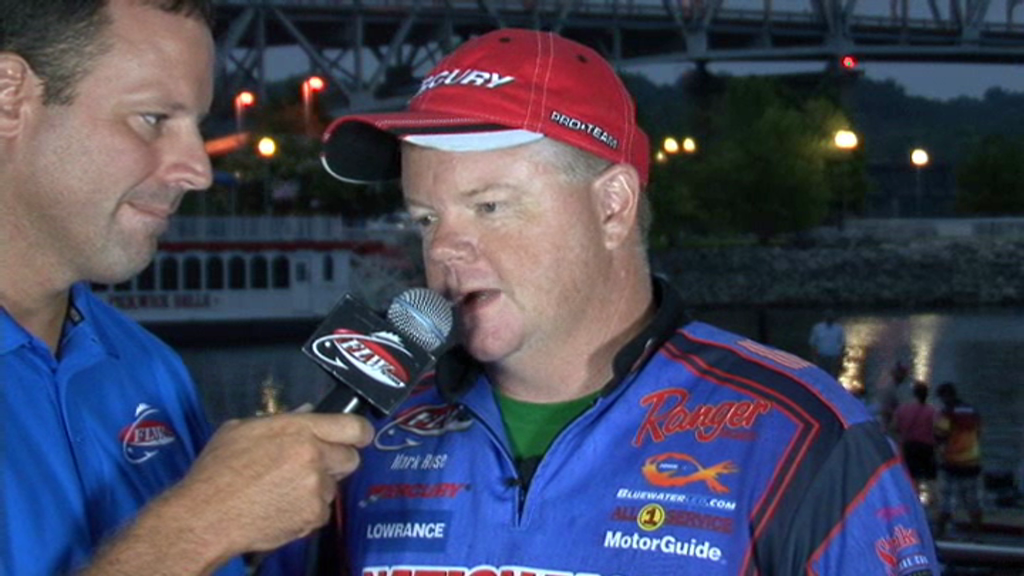 2011 FLW Tour Major on Pickwick Lake Final Day Take-Off Interview Mark Rose