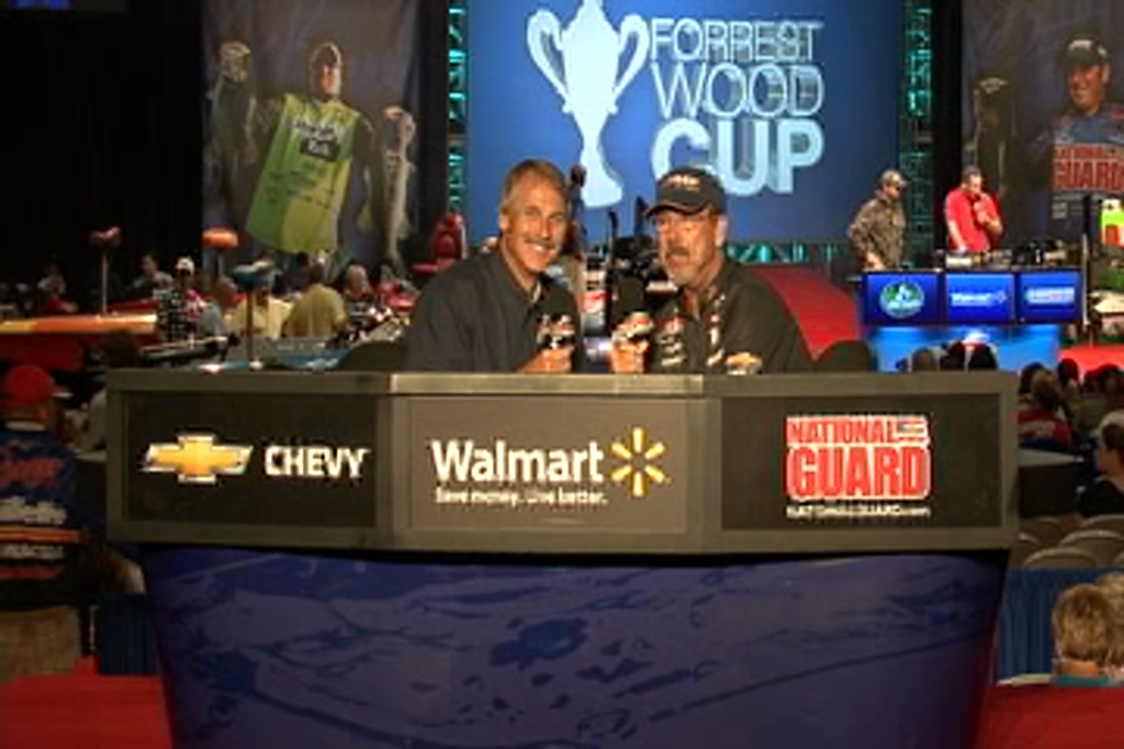 Larry Nixon and Hank Parker talk about day 1 at the Forrest Wood Cup