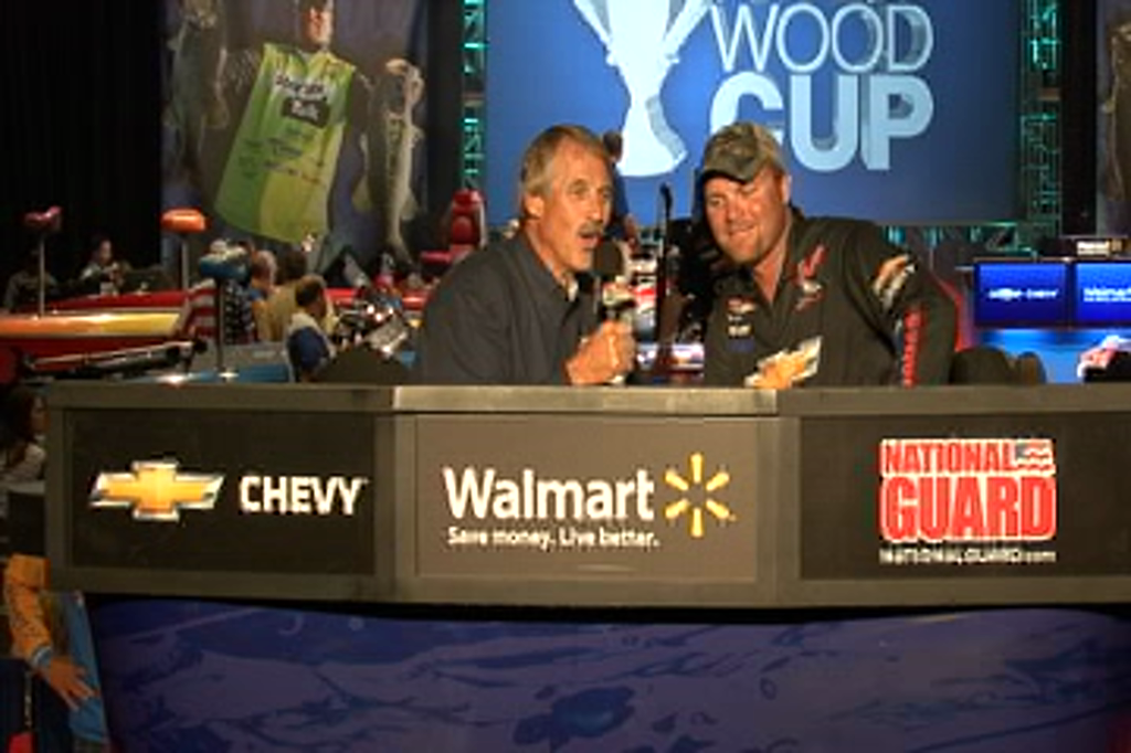 Luke Clausen and Hank Parker in an interview from day 1 of the FWC