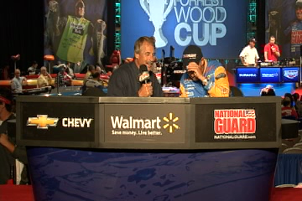 Wesley Strader with Hank Parker on day 1 of the FWC