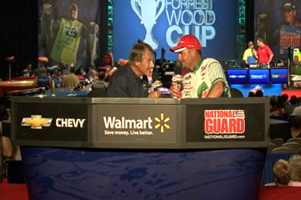 Jason Christie and Hank Parker talk on day 1 of the Forrest Wood Cup