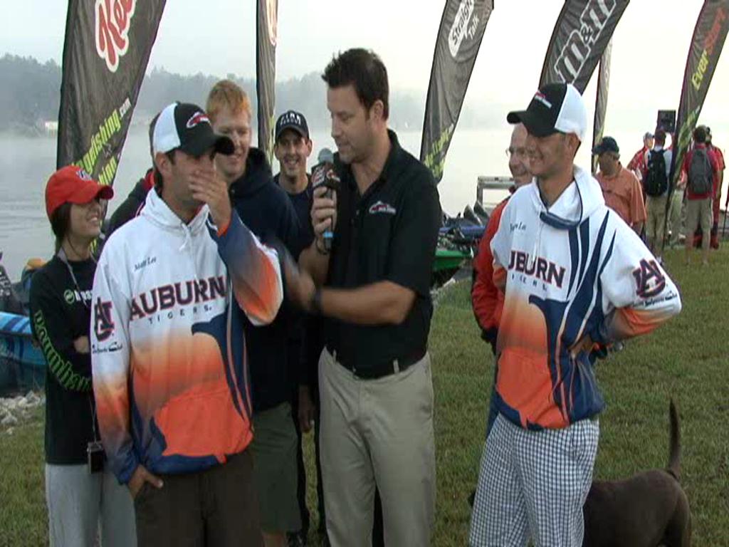 National Guard FLW College Fishing Southeast Regional Final Day Take-Off Interview Auburn Univ.