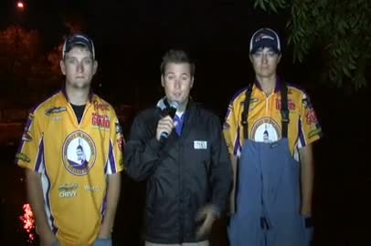 2011 National Guard College Fishing Central Regional Final Day Take-Off Interview UW Stevens Point