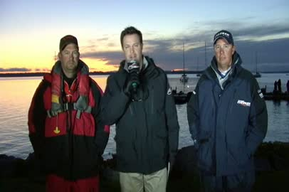2011 FLW Tour Open Lake Champlain Final Day Take-Off Interview Biron and Browne