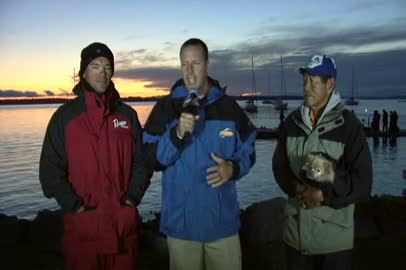 2011 FLW Tour Open Lake Champlain Final Day Take-Off Interview Wolak   Yamamoto