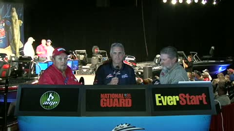 Al and Ron Linder are interviewed by Chip Leer on day 2 of the FLW Walleye Tour Ch