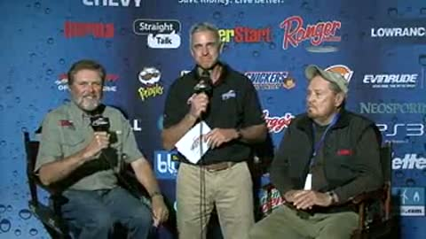 Al and Ron Linder are interviewed by Chip Leer on day 3 of the FLW Walleye Tour Ch
