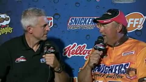 David Andersen is interviewed by Chip Leer on day 3 of the FLW Walleye Tour Championship