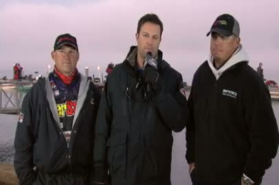 2011 FLW Tour Open Lake Guntersville Final Day Take-Off Interview Behrle   Lane