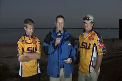 2011 National Guard FLW College Fishing Texas Regional Final Day Take-Off Interview LSU