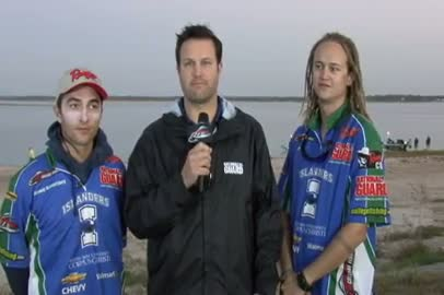 2011 National Guard FLW College Fishing Texas Regional Final Day Take-Off Interview TX A M CC