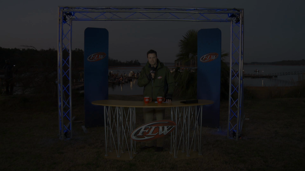 2012 FLW Tour Major Lake Hartwell Final Day Take-Off Interview - Frazier