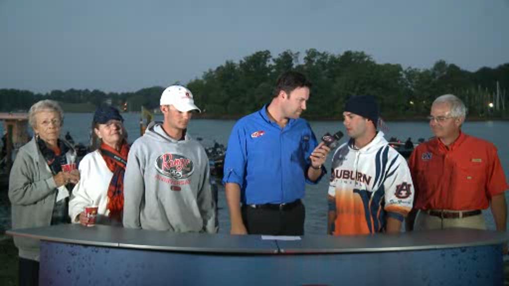 2012 National Guard FLW College Fishing Championship Final Day Take-Off Interviews - Auburn Univ.