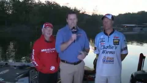 2012 FLW Tour Major Table Rock Lake Final Day Take-Off Interview King   Long