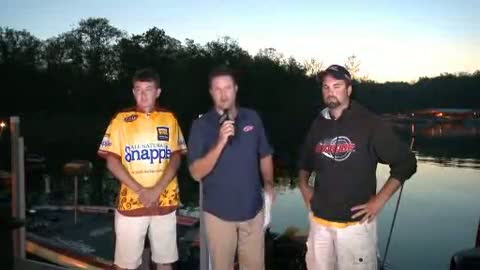 2012 FLW Tour Major Table Rock Lake Final Day Take-Off Interview Welcher   Shuffield