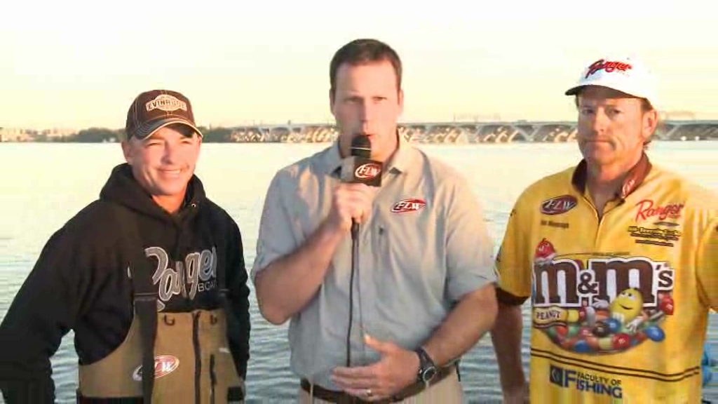 2012 FLW Tour Major on the Potomac River Final Day Take-Off Interviews Wendlandt   Moynagh