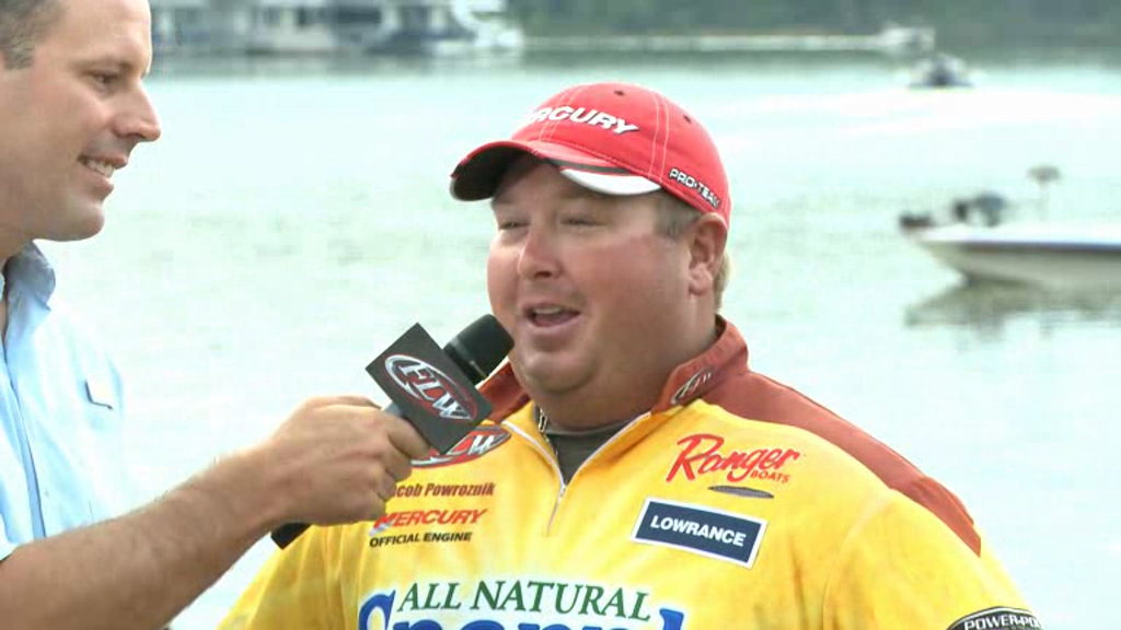 2012 FLW Tour Major on Kentucky Lake Final Day Take-Off Interviews Shuffield   Powroznik
