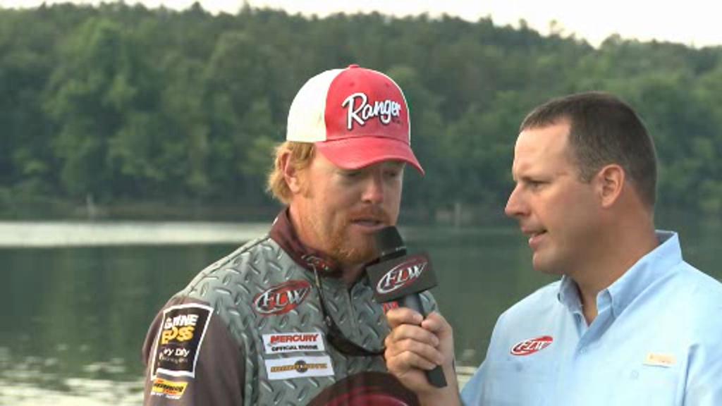 2012 FLW Tour Major on Kentucky Lake Final Day Take-Off Interviews Mabrey   Hollowell