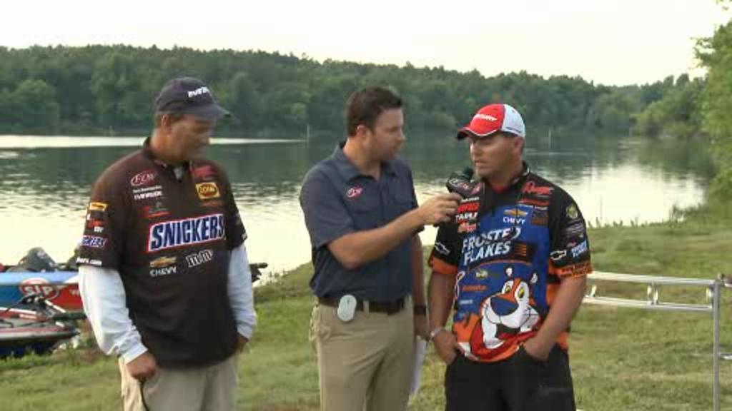 2012 FLW Tour Major on Kentucky Lake Final Day Take-Off Interviews Baumgardner   Lefebre