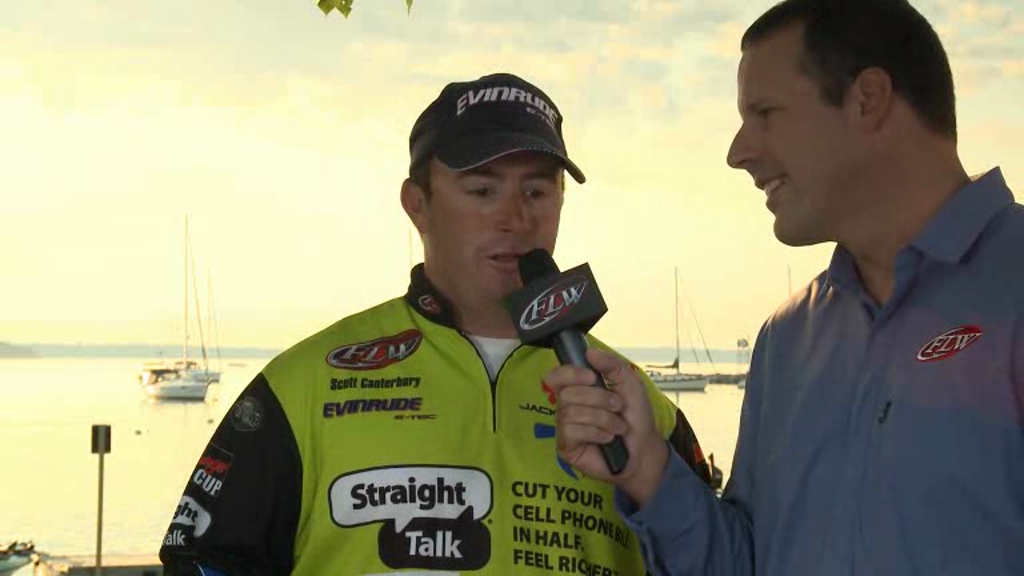 2012 FLW Tour Major on Lake Champlain Final Day Take-Off Interviews Canterbury   Thompson