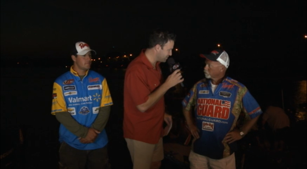 2012 FLW Tour Open Detroit River Final Day Take-Off Interview Johnston   McDonald