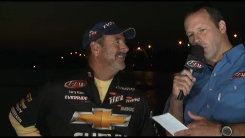 2012 FLW Tour Open Detroit River Final Day Take-Off Interviews Nixon   Shuffield