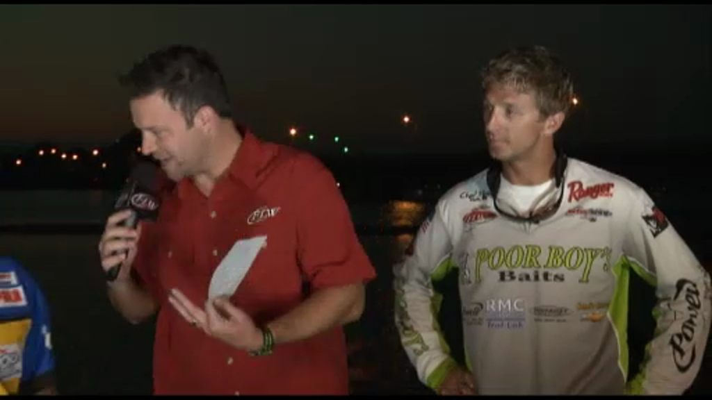 2012 FLW Tour Open Detroit River Final Day Take-Off Interviews Wilson   Pipkens