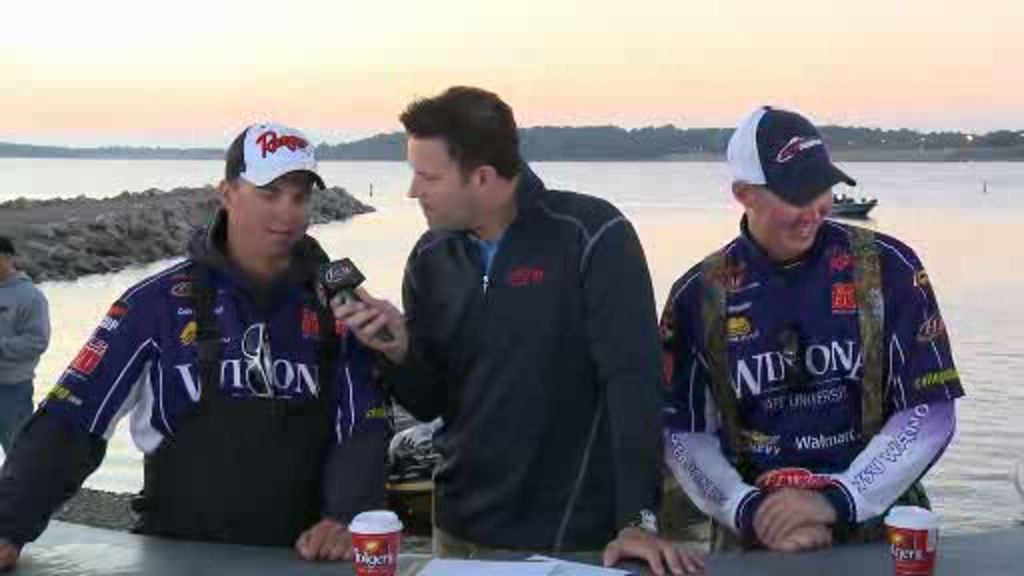 2012 NG FLW College Fishing Central Championship Final Day Take-Off Interviews - Winona State