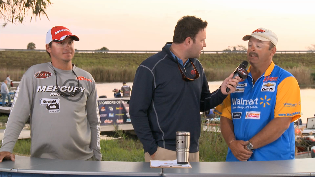 2013 FLW Tour Lake Okeechobee Final Take Take Off Interviews - Benton   Cotten