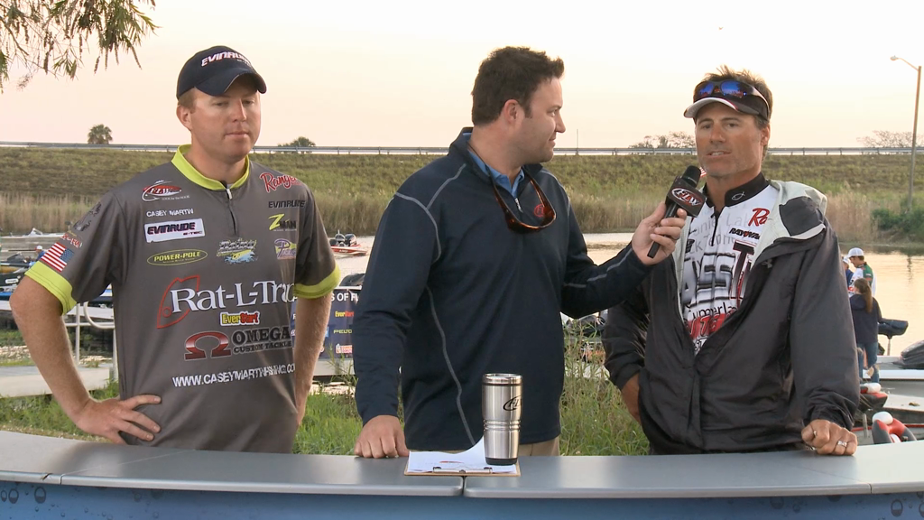 2013 FLW Tour Lake Okeechobee Final Take Take Off Interviews - Martin   Hendricks