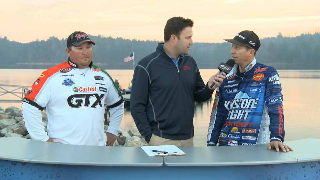 2013 FLW Tour Lewis Smith Lake Final Day Takeoff Interviews - Powroznik   Ehrler