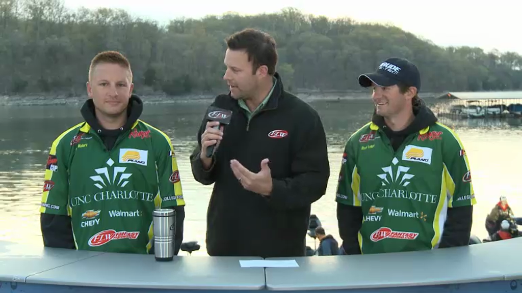 2013 FLW College Fishing National Championship Final Day Takeoff Interviews - UNC Charlotte