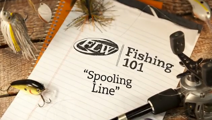 FLW Fishing 101 - Spooling Line