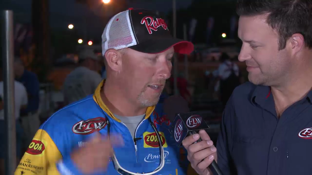 2013 FLW Tour Lake Chickamauga Final Day Take-Off Interviews - Strader   Auten