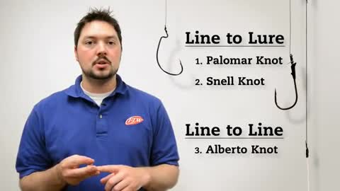 FLW Fishing 101  Tying knots