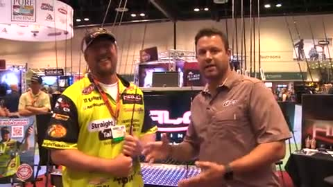 Jason Harper finds JT Kenney hanging out in the Halo Booth at ICAST 2014.