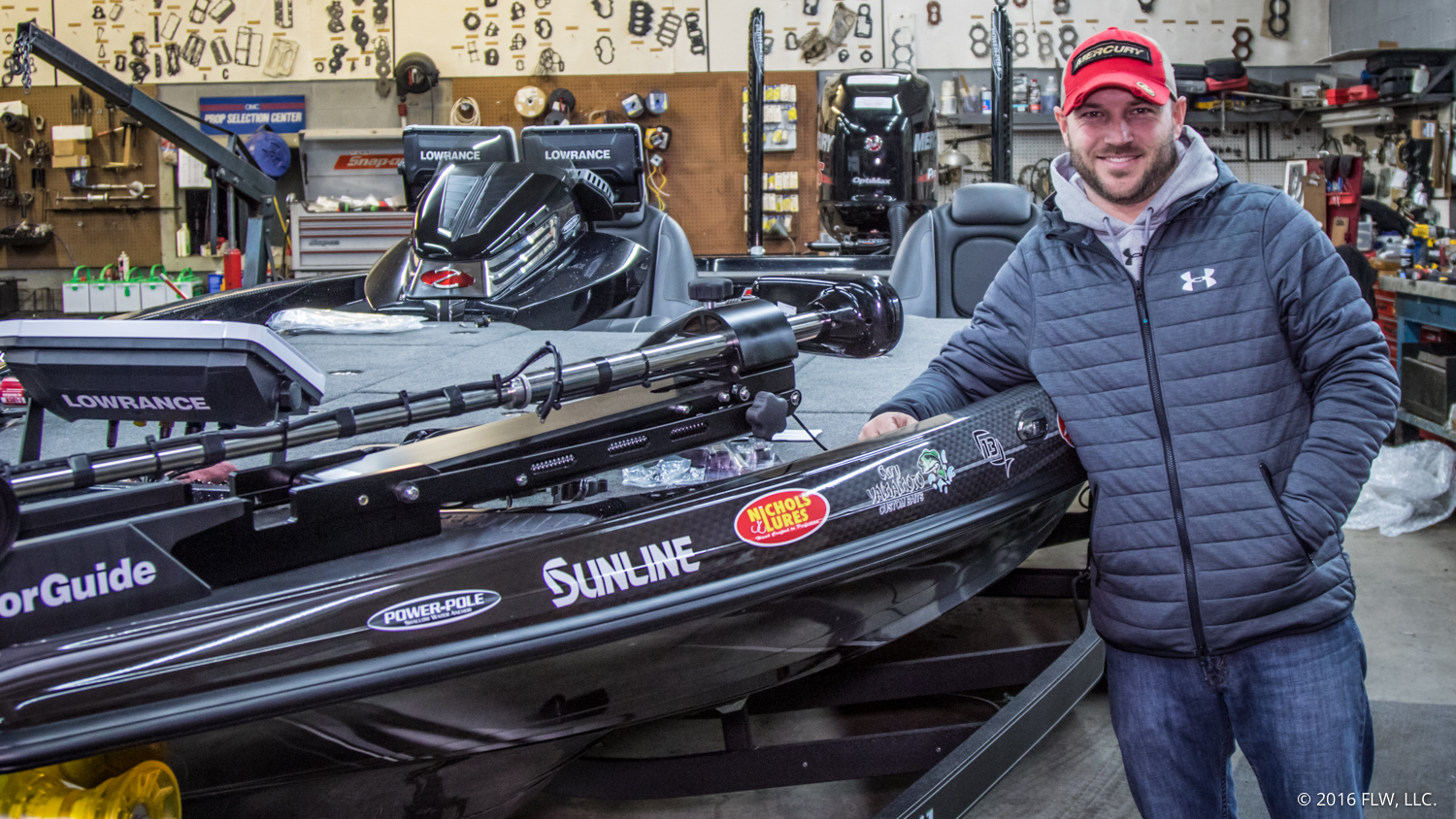 Prepping a FLW Tour bass boat
