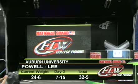 2012 College Fishing Southeastern Conference Championship Sep 27 -  29 Weigh-in