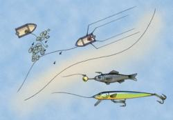 Locate rocky reefs in less than 10 feet of water on the Great Lakes and you are likely to find walleyes in the spring. Cast a jig-and-bait combo or troll crankbaits through the shallows to entice strikes.