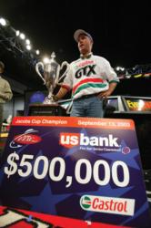 In 2003 David Dudley won yet another huge sum of money in the Forrest Wood Cup on the James River.
