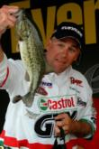 Pro Bobby Curtis of Siloam Springs, Ark., used a total catch of 27 pounds, 13 ounces to grab fourth place at Sam Rayburn.
