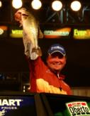 Greg Hackney of Gonzales, La.,  made another rebound of sorts Saturday with his four-bass catch weighing 11 pounds 1 ounce. He finished in fourth place with a final-round total of 12-14.