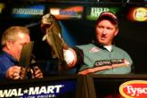 Craig Powers heaved the heaviest sack of the day to the scale - a limit weighing 14 pounds, 6 ounces - but ultimately fell short due to a 1-pound, 3-ounce deficit he faced from the day before. His final-round total was 10 bass weighing 23 pounds, 4 ounces.