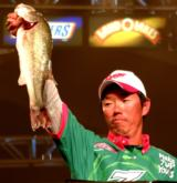 Shinichi Fukae of Osaka, Japan, ended up in fifth place with a 10-bass weight of 26 pounds, 11 ounces.
