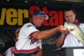 Pro Britt Cone of Benton, Ky., placed second with a two-day total of 10 bass that weighed 33 pounds, 13 ounces.